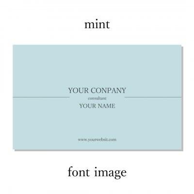 シンプルモダンなデザイン名刺 03 ミント