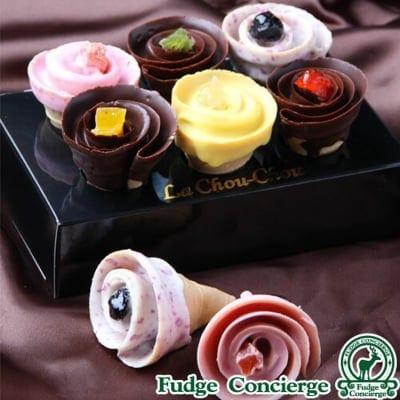 【バレンタイン限定商品】薔薇のような♪新商品チョコレートスイーツ LA CHOU CHOU (ラ・シュシュ)