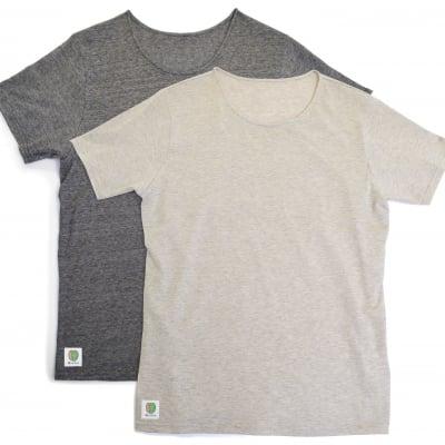 メンズTシャツ(丸首)汗パット付 消臭・抗菌/柿渋染め 日本製