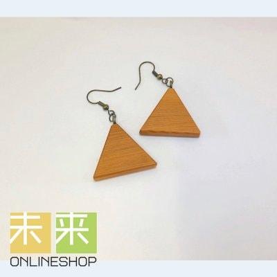 【ウッドアクセサリー】木のイヤリング(イチイ)・イヤリングorピアス変更可能