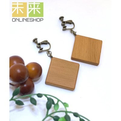 【ウッドアクセサリー】木のイヤリング(イチイ)・イヤリングorピアス...