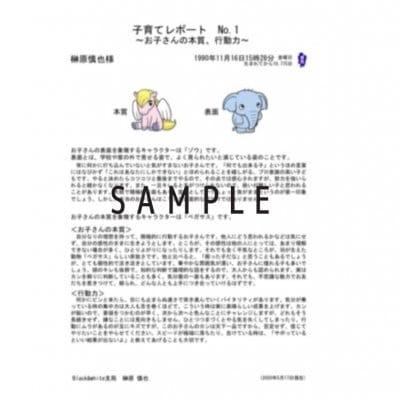 【占い】個性心理學レポートのみ購入【子育てレポート3枚セット】