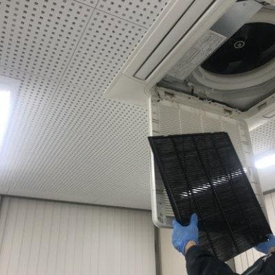 【東京都八王子市内限定】天井カセット型業務用エアコン 「1台のみ」 フィルター簡易清掃 期間限定2/26まで高ポイント還元実施