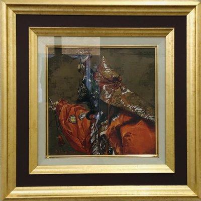 アクリル画「蘭陵王」−遠望ー