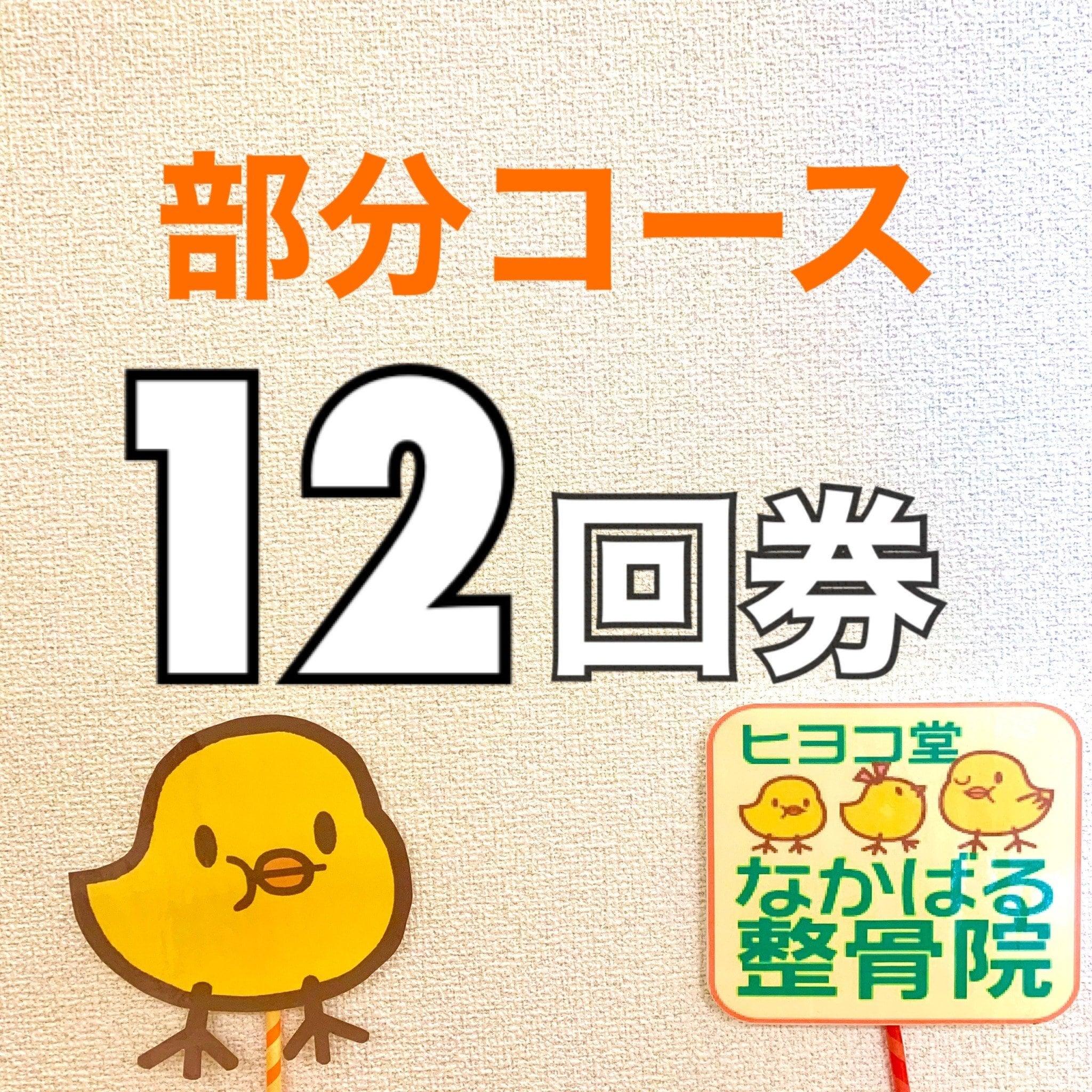【12回券】部分コース 回数券のイメージその1