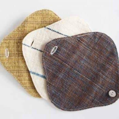 【送料無料】草木染・手織りの自然服 うさと 布 ナプキン うふふわ ラ...