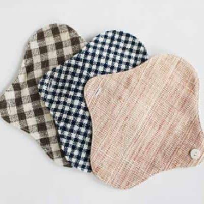 【送料無料】 お試しセット 草木染・手織りの自然服 うさと 布 ナプキ...