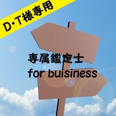 【D・T様専用】 12か月専属鑑定士 for business ゴールドプラン