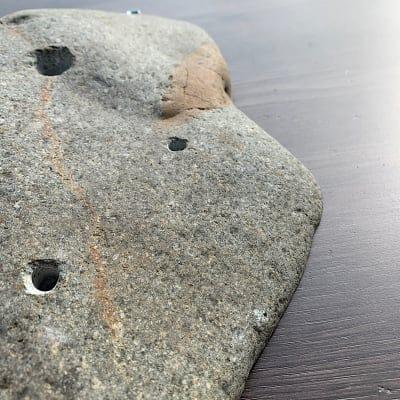 限定1点物 川原石シリーズ スローパー・カチ系 自然石クライミングホールド『庭HIDEhold』K-01sk