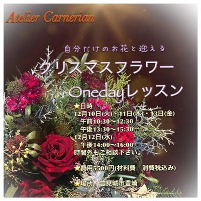 Atelier Carnerian クリスマスフラワーOneDayレッスン ウェブチケット【現地払い専用】