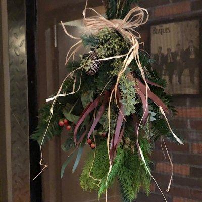 生花 森の香りのクリスマススワッグ 7000