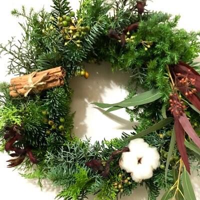 生花 森の香りのクリスマスリース