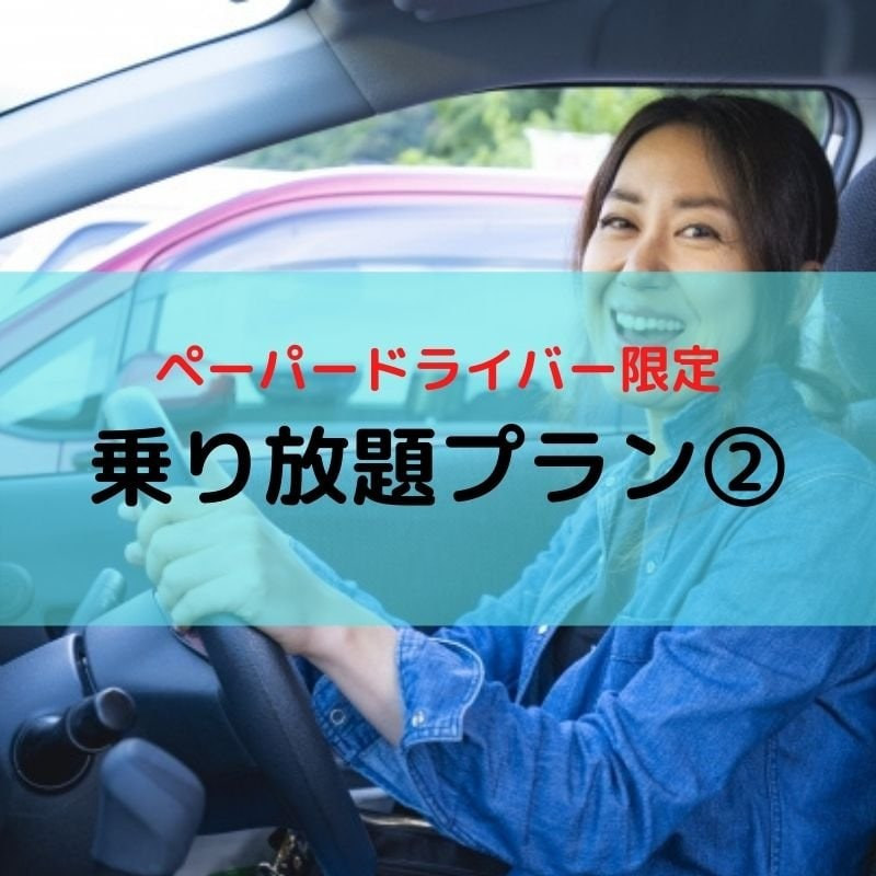 【ペーパードライバー限定】乗り放題プラン②のイメージその1