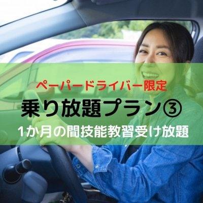 【ペーパードライバー限定】乗り放題プラン③