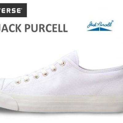 コンバースジャックパーセルスニーカーローカットキャンバスCONVERSE JACK PURCELLホワイト