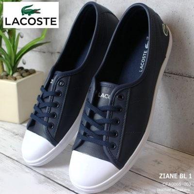 ラコステ スニーカー LACOSTE ZIANE BL 1 CFA0065-003 ネイビー ラコステ 白