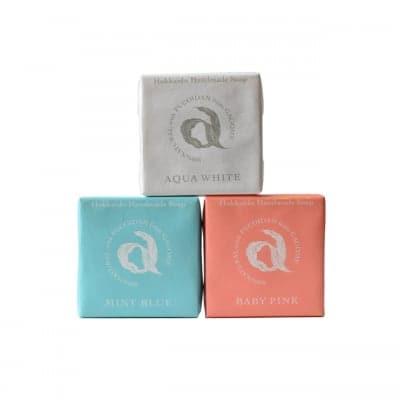 〈肌ケア〉北海道石鹸セット(ミントブルー&アクアホワイト&ベイビーピンク)