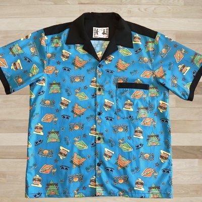 【NANCY STYLE】ジャンケンポン救済ボーリングシャツ《ネオン柄》