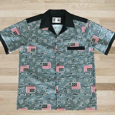 【NANCY STYLE】ジャンケンポン救済ボーリングシャツ《ルート66》
