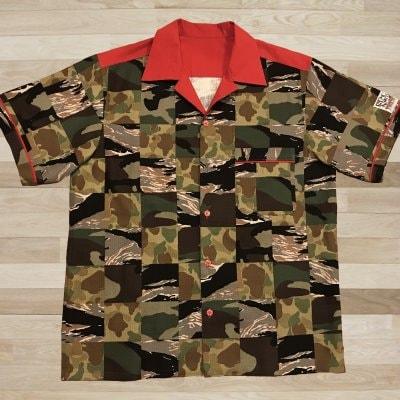 【NANCY STYLE】ジャンケンポン救済ボーリングシャツ《迷彩》