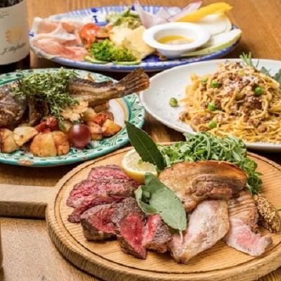 Osteria Uraraのパーティープラン!!前菜の盛り合わせと旬の食材を使ったパスタにメインは豪快お肉の盛り合わせ! 2H飲み放題付きUraraのスタンダードプラン!!