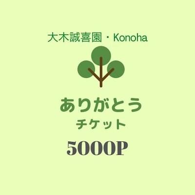 【ありがとう】5000ポイントチケット