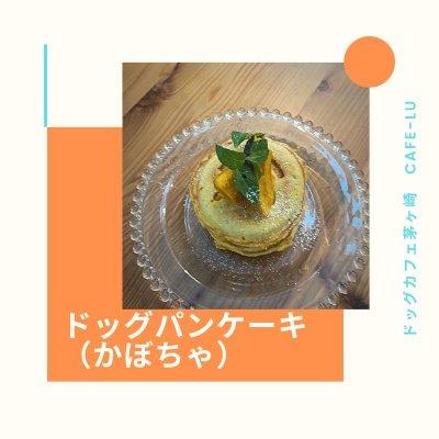 ドッグパンケーキ(かぼちゃ)ドッグカフェ茅ケ崎 カフェルー