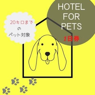 ペットホテル1日券 【20キロ以内の犬専用】