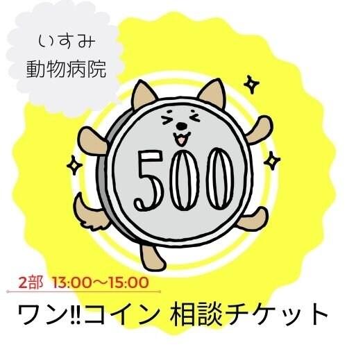 2月21日(日)2部 : 13:00〜15:00の部 !!犬猫オンラインフェス《ワンコイン相談チケット》いすみ動物病院のイメージその1