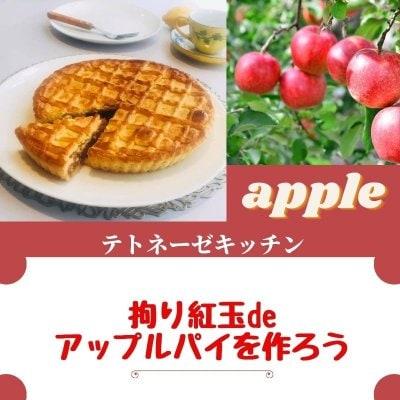 【拘り紅玉🍎でアップルパイを作ろう】アップル パイ18cm🥧一台お持ち帰り ❣️麹調味料を使った発酵ランチ☕️🥧付き