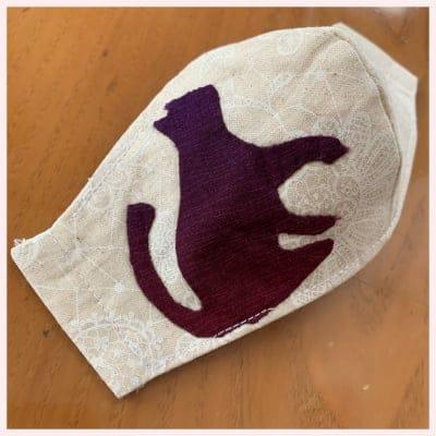 【アップリケマスク】手作りマスク(ネコ)