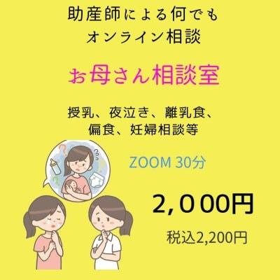 助産師によるオンライン相談(LINE、zoom、Skype、電話など) お母さん相談室 2,000円(税込2,200円) ZOOM/Skype/LINEビデオ通話