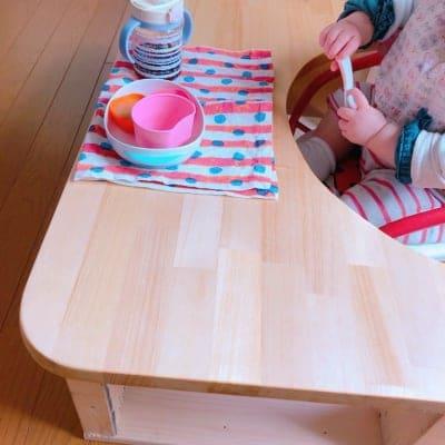 子育て中 現役大工さんが作る『手作り赤ちゃんテーブル』