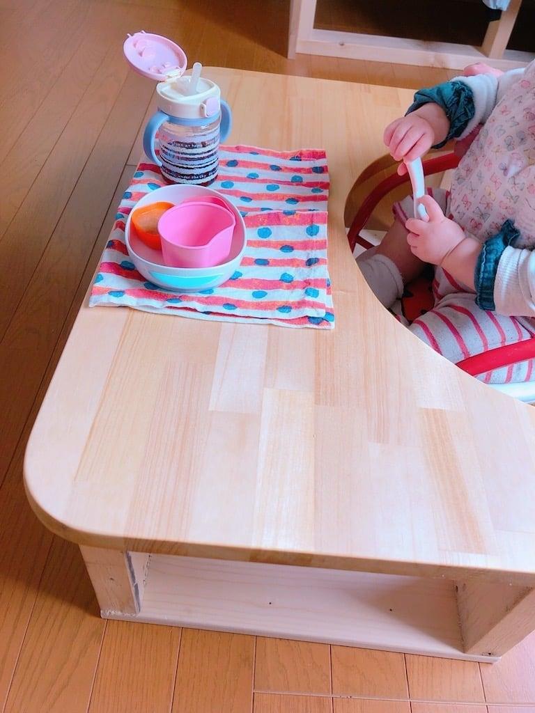 子育て中 現役大工さんが作る『手作り赤ちゃんテーブル』のイメージその1