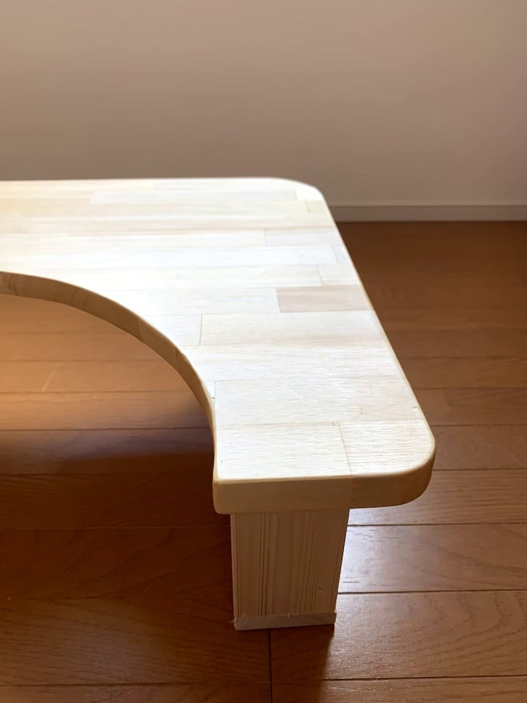 子育て中 現役大工さんが作る『手作り赤ちゃんテーブル』のイメージその4