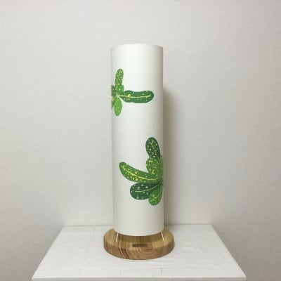 「ChibiCro」筒型フロアーランプ/クロトングリーン丸葉デザイン【送料無料】