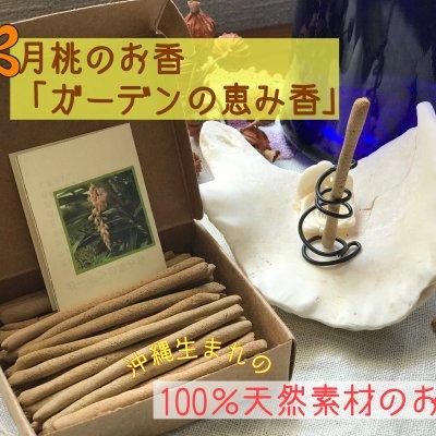 【沖縄生まれの100%天然素材のお香】沖縄産月桃を主原料にしたお香「ガーデンの恵み香(麻炭入)」約⒏cm×約40本(21g)