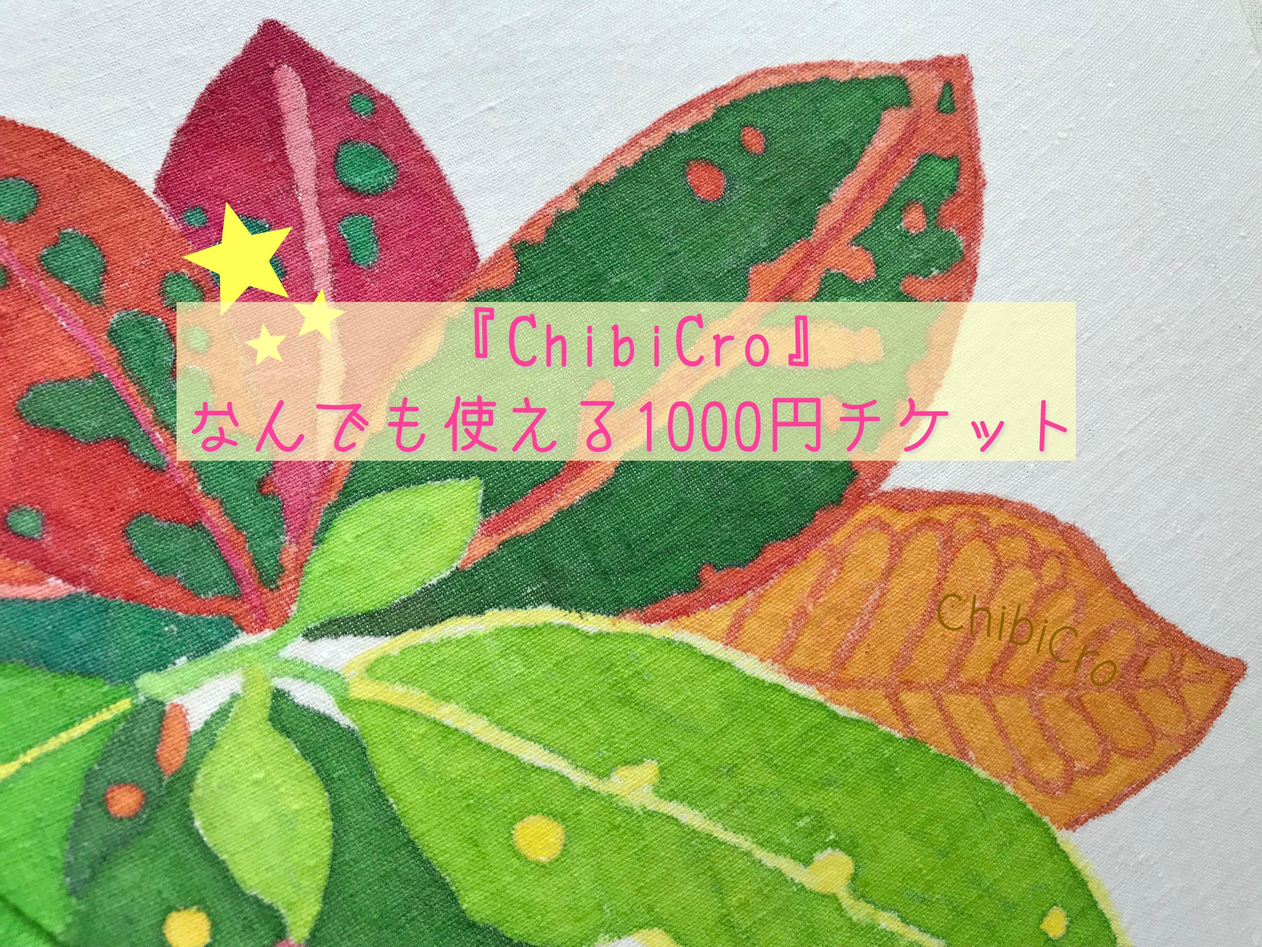 ChibiCroで何でも使える1000円チケットのイメージその1