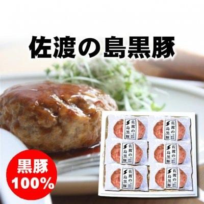 【お中元】新潟|佐渡の島黒豚生ハンバーグ6個|期間限定KA307