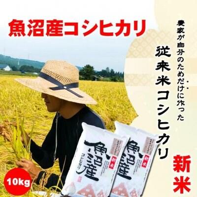 【令和2年産新米】食味スコア87/農家が自分のためだけに作る従来米魚沼産こしひかり10kg/生産者:島田栄一/常温同梱可
