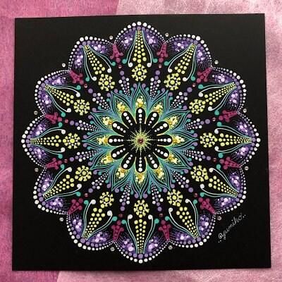 曼荼羅アート作品「お花畑」