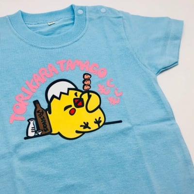 とりからたまごオリジナルキャラクターTシャツ【水色】