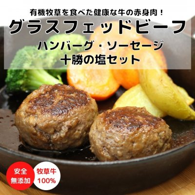 【無添加】グラスフェッドビーフハンバーグ・ソーセージ・十勝の塩セッ...