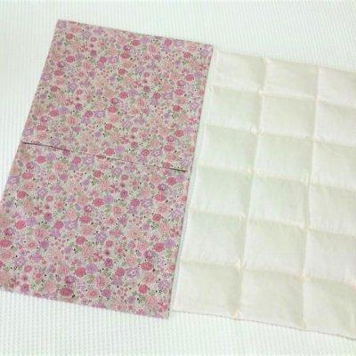 特大あずきホットパット(背中・お腹用)YUWA布の花柄ピンク カバー付き