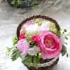 【母の日】アーティフィシャルフラワーBKアレンジ(ピンク)2