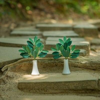 【かみ様の榊】陶器付き お手入れ不要 天然素材の榊 神棚 パワースポット用