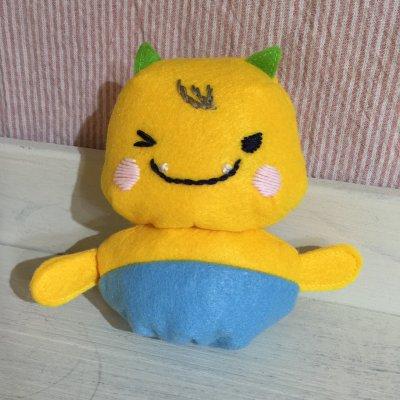 【えちゴン】えちゴンハンドメイドぬいぐるみ ウインク 日本製 越後柏崎...