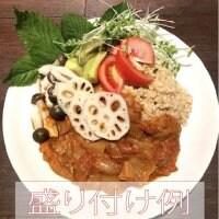川淵さんちの季節の無農薬野菜と日の丸カレー5個セット【兵庫県認証食品取得】