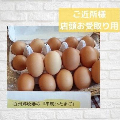 [ご近所様店頭受取り]白州郷牧場の平飼い卵 6個入り