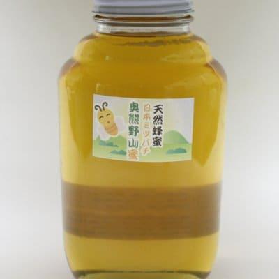 おいしい天然はちみつ 奥熊野山蜜 2400g 日本ミツバチ 天然蜂蜜 (ハチミツ) 国産 日本産 和歌山産 送料無料 彩り屋 ニホンミツバチ